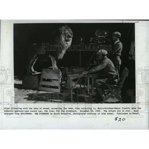 1928 Press Photo Metro-Goldwyn-Mayer's Leo The Lion - RRX62687