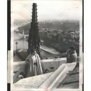 1956 Press Photo John Betty Marsh Cinerama Holiday - RSC90829