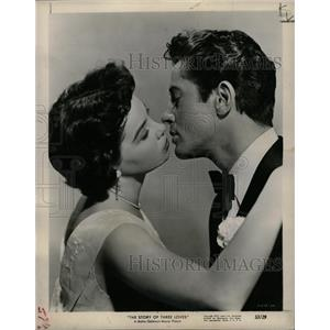 1953 Press Photo Leslie Caron Farley Granger Three Love - RRW13435