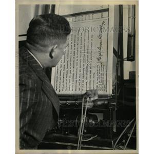 1928 Press Photo Paris France Radio Strassburger London - RRX65337