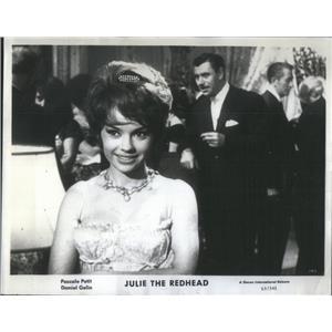 "1964 Press Photo Pascale Petit & Daniel Gelin in ""Julie the Redhead"" - RSC98729"