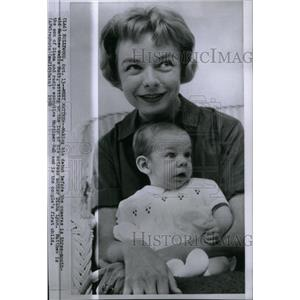 1958 Press Photo Actress Diana Lynn Son Matthew Wells - RRX47591