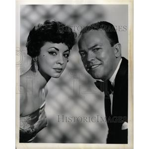 1959 Press Photo Mimi Hines Phil Ford Ed Sullivan Show - RRW99203