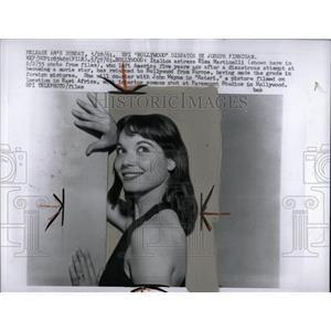1961 Press Photo Elsa Martinelli America movie star