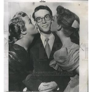 1949 Press Photo Actor Harold Lloyd Jr Phyllis Kirk Joan Evans With All my Love
