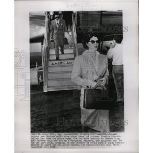 1951 Press Photo Ava Gardner Actress Screen Plane - RRW20389