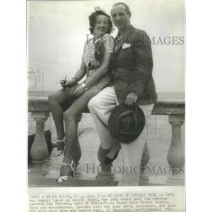 1940 Press Photo Arline Judge George Jessel - RSC18513
