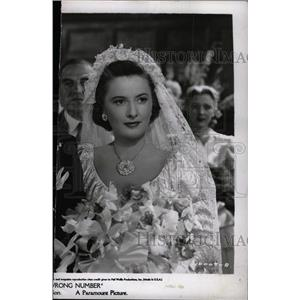1948 Press Photo Barbara Stanwyck Sorry Wrong Number - RRW82885