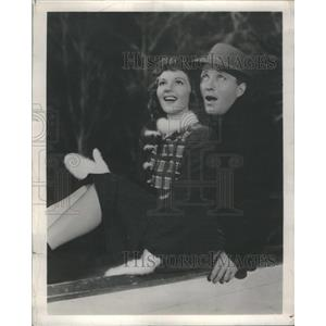 1955 Press Photo Bing Crosby And Mary Martin In Rythm On River - RSC02669