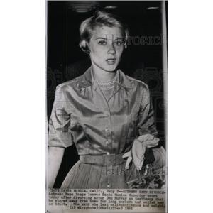 1961 Press Photo Actress Hope Lange Santa Monica - RRX41635