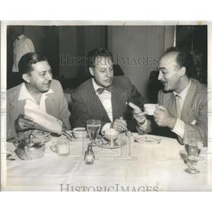 1953 Press Photo Jack Strausberg George McVicker James Lentine - RSC16953