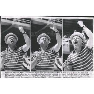 1962 Press Photo Actor Mickey Rooney Los Angels Dodgers - RRX81627