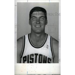 1990 Press Photo Bill Laimber Pistons - RRX38763