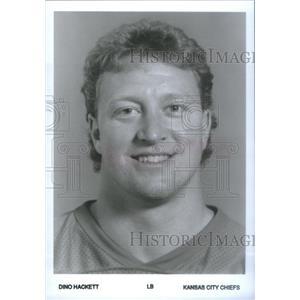 Press Photo Dino Hackett American football linebacker Kansas City Chiefs