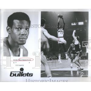 1975 Press Photo Nick Weatherspoon Washington Bullets - RSC28707