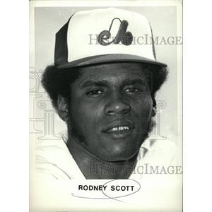 1979 Press Photo Rodney Scott Infielder Montreal Expos - RRW74201