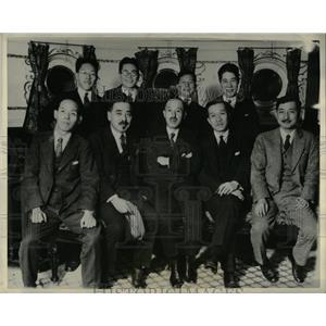 1929 Press Photo Japanese Newspaper Representatives - RRX62621