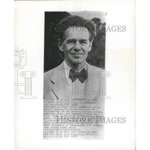 1953 Press Photo Dr. Fritz Albert Lipmann Nobel Prize - RRX88897