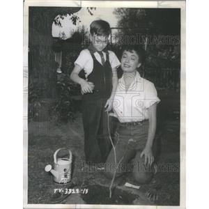 1956 Press Photo Ruth Roman American Actress and Jimmy Baird - RSC39151