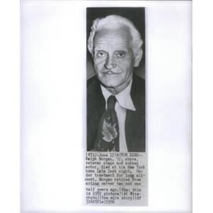 1956 Press Photo Ralph Morgan veteran stage screen actor New York - RSC72351