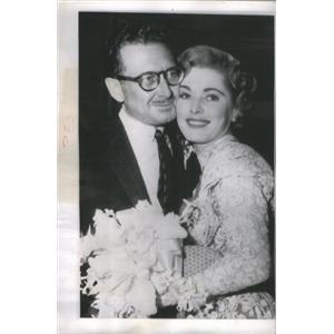 1954 Press Photo Paul Clemens Portrait Painter Eleanor Parker Marriage Hollywood