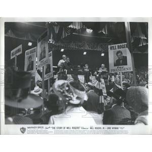 1952 Press Photo Will Rogers Story Movie Scene - RSC52483