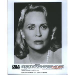 Press Photo Faye Dunaway Silhouette Academy Award Winner - RSC62841