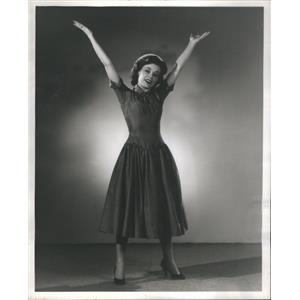 "1956 Press Photo Susan Lovell in ""Damn Yankees"" - RSC92175"
