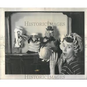 1951 Press Photo Actress Vera Ward of Breezy, Don and Vera - RSC55897