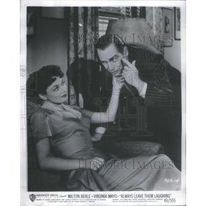 1950 Press Photo Ruth Roman Actress and Milton Berle Actor - RSC39169