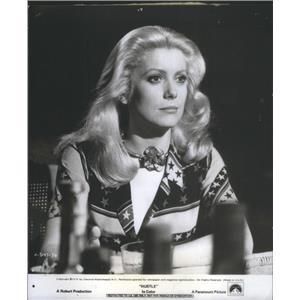 """1976 Press Photo Copy Catherine Deneuve in """"Hustle"""" - RSC69985"""