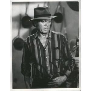 1977 Press Photo Rafferty Series Actor McGoohan Wearing Striped Shirt