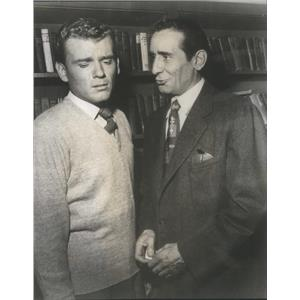 "1952 Press Photo ROLLAND MORRIS VICTOR JORY ""SUM OF SEVEN"" - RSC82563"