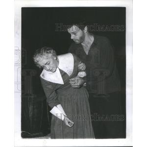 "1958 Press Photo Alma Platts and Harry Townes ""Th Crucible"" - RSC44861"