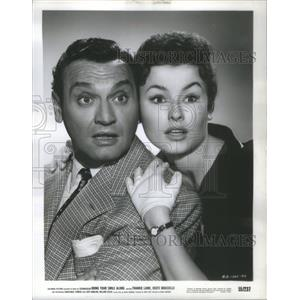 1955 Press Photo Frankie Laine and Lucie Marlow (Actor/Actress) - RSC00249