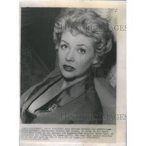 1958 Press Photo Marie McDonald Actress Singer Husband Planned Kidnapping