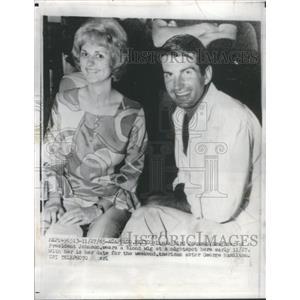 1965 Press Photo Movie Actor George Hamilton Linda Bird Johnson