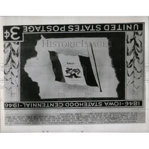 1949 Press Photo 3-cent Iowa Anniversary Postage Stamp