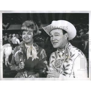 1967 Press Photo Dale Evans And Roy Rogers Appear On Coliseum - RSC47247
