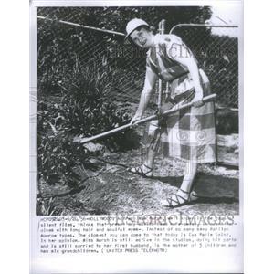 1956 Press Photo Actress Mae Marsh Silent Films - RSC95831