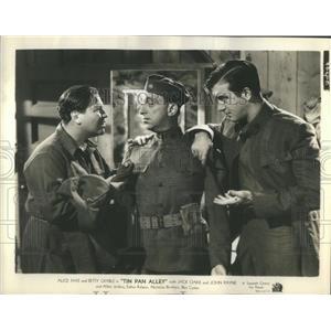 1940 Press Photo Jack Oakie Actor Allen Jenkins John Payne Musical Tin Pan Alley