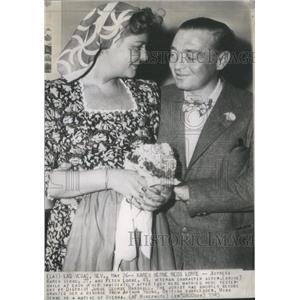 1945 Press Photo Karen Verne Actress Peter Lorre Actor Marriage - RSC95957