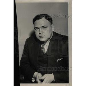 1934 Press Photo Chas Snyder Detroit Detective Berry - RRW74045