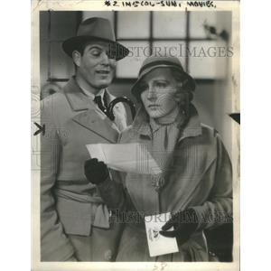 1934 Press Photo Madge Evans & Nat Pendleton - RSC98545