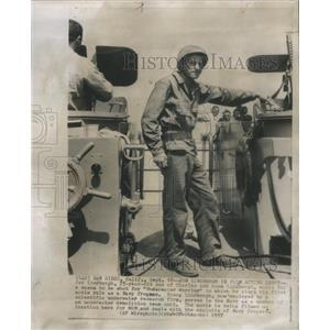 1957 Press Photo Jon Lindbergh son Charles Lindbergh Underwater Warrior Navy