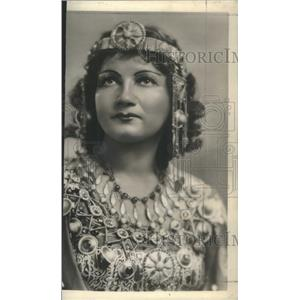 1943 Press Photo Stella Roman as Aida in Open-Air Presentations of the Opera
