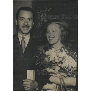 1938 Press Photo Miss Grace Moore Actress Valentine Parera Actor - RSC98353