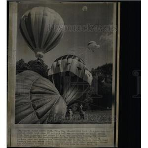 1973 Press Photo Balloon Race Liftoff Sandy Point Park