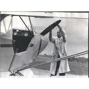 1973 Press Photo Troy Dodd American Antique Plane Collector - RSC15919