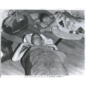 1962 Press Photo Cadets Sleep On Gym Floor